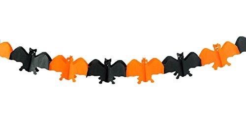 me ruikey Spider Papier Banner Dekoration Requisiten DIY Party Papier Bänder Flagge House PRODUCTIONS Aufkleber, Papier, Black and Orange#2, length 3m ()