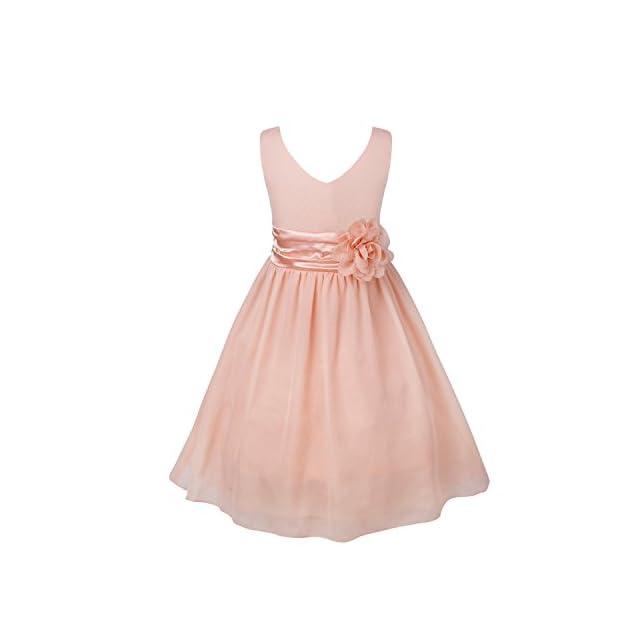 dace29a753a38 TiaoBug Enfant Fille Robe Princesse Soirée Cérémonie Robe Demoiselle d honneur  Mariage Robe Mariee Robe ...