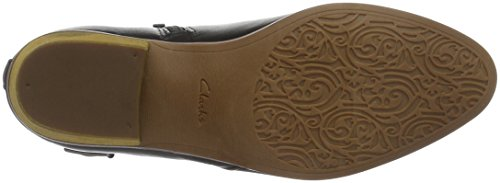 Clarks Spye Astro, Stivaletti Donna Nero (Black Leather)