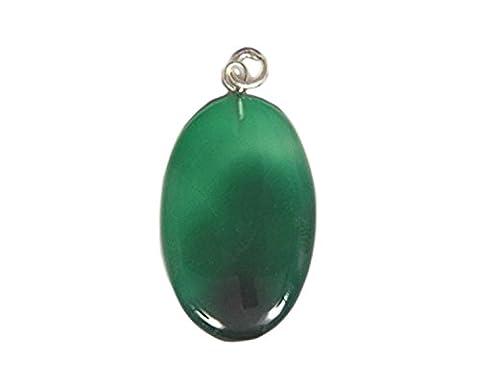 Grün Onyx Oval Anhänger von