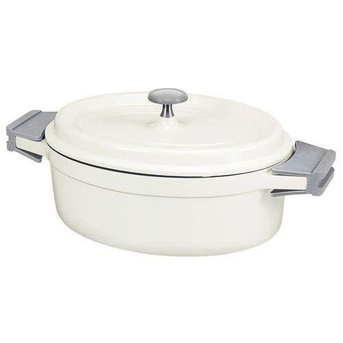 Beka 13392314 Cook On Cocotte ovale + Couvercle en fonte d'aluminium ivoire 31 cm