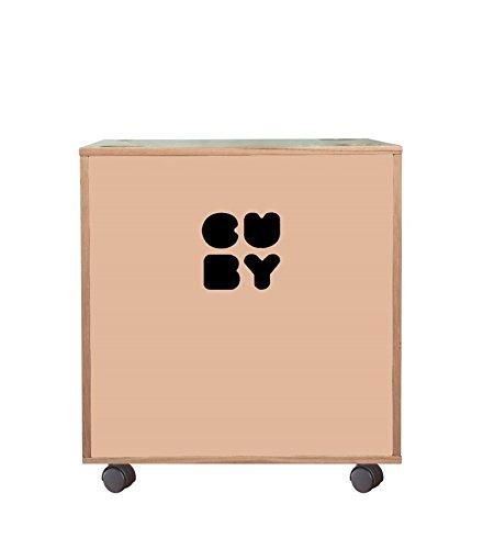 Cuby-Caja Caja para juguetes sobre ruedas