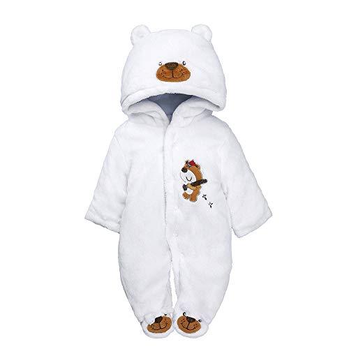 Babykleidung Set,Beikoard Baby langärmelige Dicke Baumwolle Pad warm mit Kapuze Tasche Fuß Jumpsuit Warme Kleidung