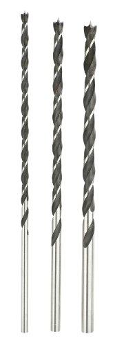 KRAFTIXX Holzbohrersatz, Balkenbohrer 6, 8 und 10 mm, Gesamtlänge 250 mm, Arbeitslänge 185 mm, 3 teilig, 1 Stück, 511890