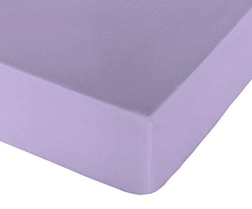 Play Basic Collection-Lisa Spannbetttuch für Bett 150 violett (Juegos Violetta De)