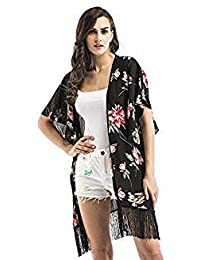 ac5db9b7d SLB Works Decorative Pattern Beach Dress Sarongs Fringed Shawl Cover-up  Swimwear Plage Beach Tunics Bathing Suit Cover Color Picture…