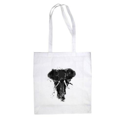 Elephant - Stofftasche / Beutel Weiß