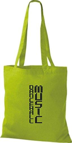 ShirtInStyle Stoffbeutel Musik Beutel Dancehall Music Baumwolltasche Beutel, diverse Farbe lime green