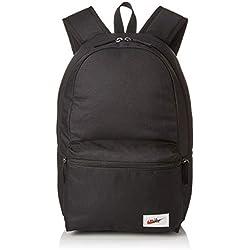 Nike NK Heritage BKPK-Label Mochila, Adultos Unisex, Black/Orange Blaze, One Size