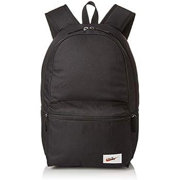 f4d4f95ded Nike Nk Heritage Bkpk - Label, Sacs à dos mixte adulte, Multicolore  (Black/Black Orange B), 15x24x45 cm (W x H L)