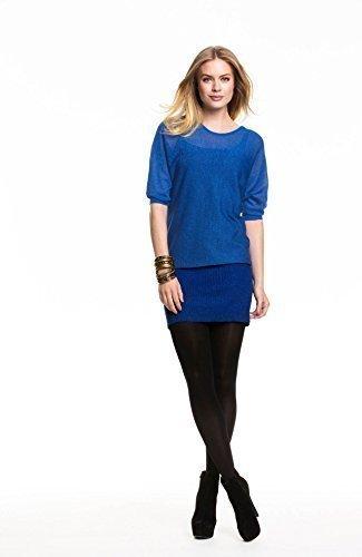 Holidaysuitcase Damen sexy abend glitzer weihnachtsfeier tunika top, 2 farben zur auswahl Blau