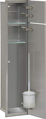 WC-Wandcontainer, 2 befliesbare Türen,1 Papierrollenfach,1 Leerfach, Anschlag rechts - WC-Modul