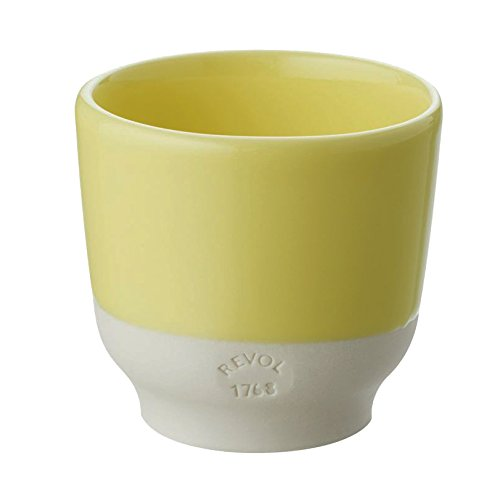 Revol RV648909 Tasse Espresso, Porcelaine, Jaune Citrus, 6,5 x 6,5 x 6 cm