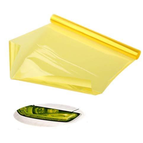 VOYAGO Scheinwerfer-Folie Gelb 30 * 120cm, Wasserdicht Auto Scheinwerfer Folie Tönungsfolie Nebelscheinwerfer Gelb
