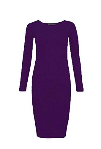 Generic - Robe - Moulante - Manches Longues - Femme Violet