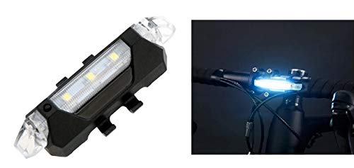 Inditradition USB Rechargeable Bicycle LED Head Light | Multi-Functional 4 Lighting Modes (White)