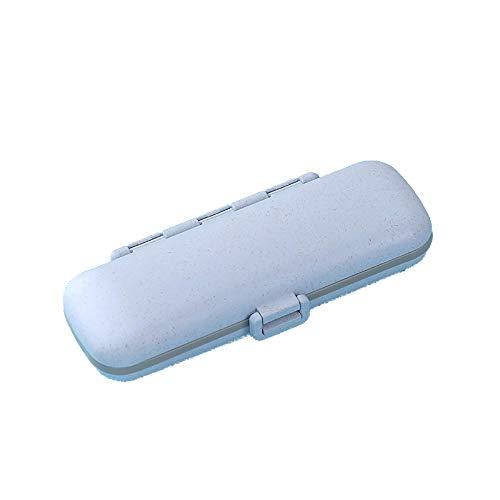 Reise Portable Pill Box,Mettime Portable Pille Vitamin Pillen Pille Dispenser Pille Erinnern Drug Manager Portable Pill Box Eine Woche Reise Portable Pill Pill Box-Blau - Pill Box Drug