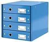 Schubladenbox WOW Click & Store - 4 Laden, blau