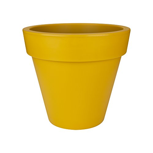 Elho Pure Round Cache Pot 60cm - Ocre