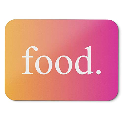 BLAK TEE Powerful Statement Food Slogan Mouse Pad 18 x 22 cm in 3 Colours Pink Yellow -
