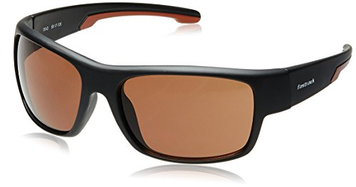 Fastrack UV Protected Wrap-Around Men's Sunglasses - (P314BR3|59|Brown Color) image