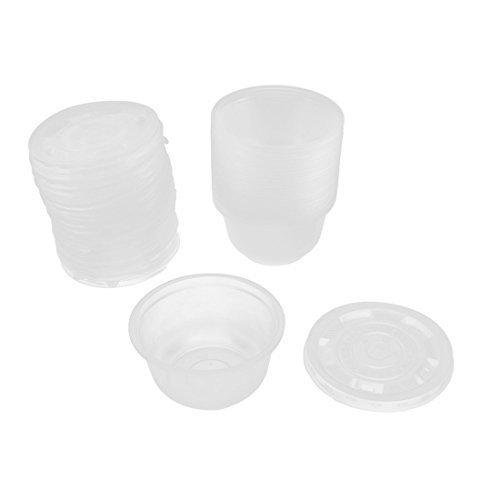 Riso usa e getta in plastica da esterni, contenitori Ciotola per zuppa 25 pezzi, colore: trasparente