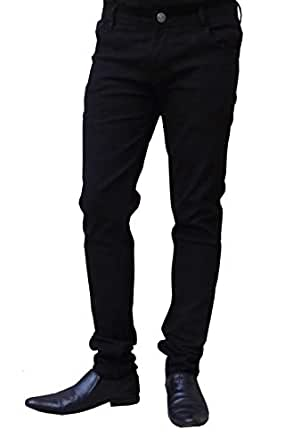 Ben Carter Men's Stretchable Slim Fit Casual Wear Jeans - Black (BCJN-REGULR-BLACK-ZB-38)