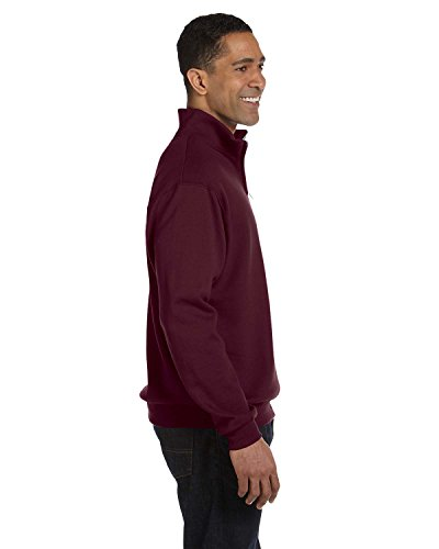 Jerzees Men's Quarter-Zip Cadet Collar Pullover Sweatshirt -