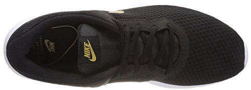 Nike Wmns Tanjun, Scarpe da Ginnastica Basse Donna Nero (Black/metallic Gold 004)