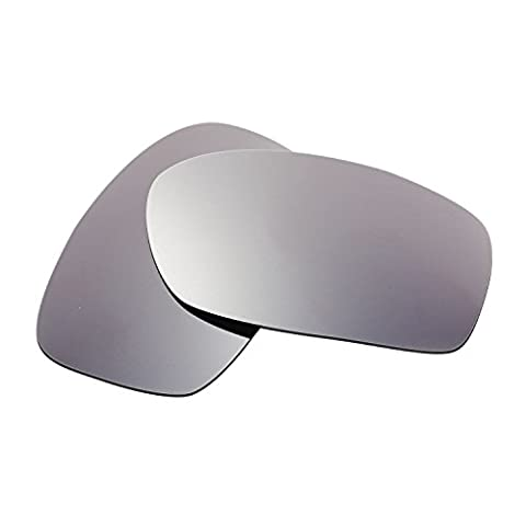 Hkuco Plus Mens Replacement Lenses For Oakley Fives Squared Sunglasses Titanium Mirror Polarized
