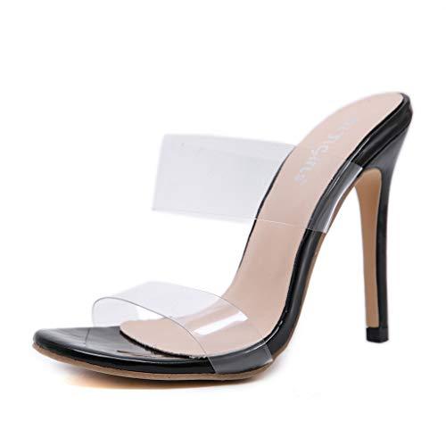 Sandalen Mode Transparente Krawatte Sandalen Sommer High Heels Abendschuhe Pumps Hochzeit Schuhe mit Hohen Absätzen Retro Peeptoe Sandalen ()