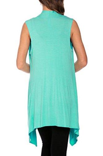 Les Femmes Sans Manches Chauve - Souris, Chemise Asymétriques Bureau Cardign Gilet Jumper blue