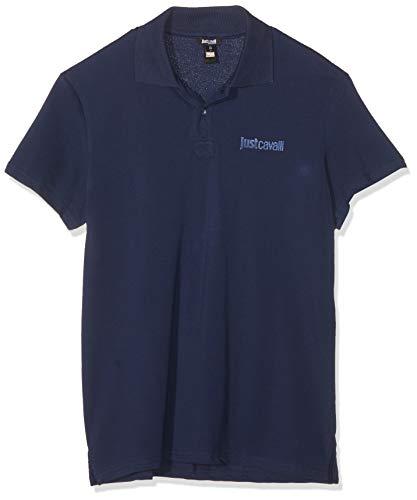 Just Cavalli Beachwear Poloshirt B47 blau DE 50