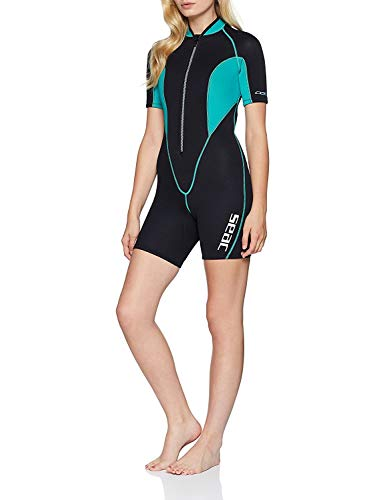 Seac Corto Ciao Combinaison de plongée Shorty Sealight pour femmes, Multicolore (Noir/bleu ), M