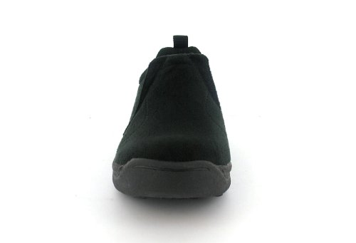 Womens/Ladies Black Elasticated Slip