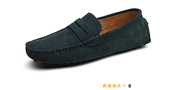 minimalisme homme conduite mocassin daim cuir mocassins Slip sur Penny chaussure