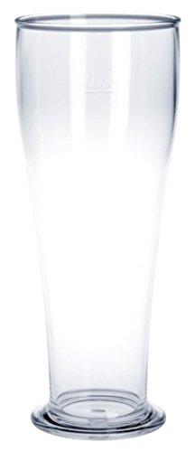 10 Stück Weizenbierglas - 0,5l aus Kunststoff in Glasoptik
