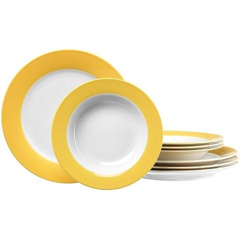 Ritzenhoff & Breker Doppio 596656 - Juego de café (8 piezas), color amarillo