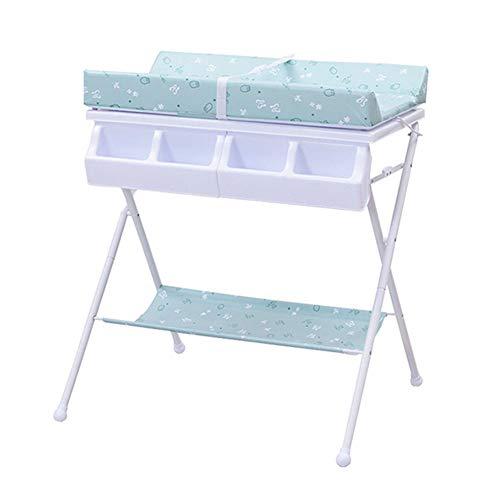 Table à Langer 2 en 1 pour Couches, Pliant Rangement Unité Dresser Station Portable Organisateur De Pépinière, Couleur en Option (Couleur : Bleu)