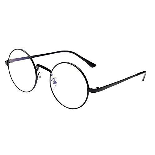 VRTURRetro Runde Brille Mit Fensterglas Damen Herren Brillenfassung, 5 Paar(One size,E)