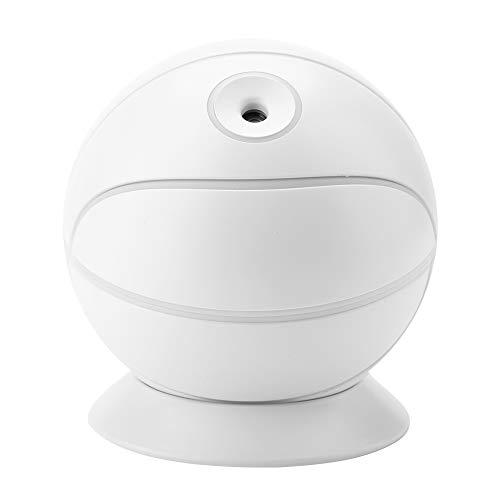 (Eboxer 240ML 360 ° drehbarer Basketball Geformter Luftbefeuchter Nachtlicht mit USB-Kabel Luftbefeuchter für Haus,Büro,Hotel,Zimmer usw.(Weiß))