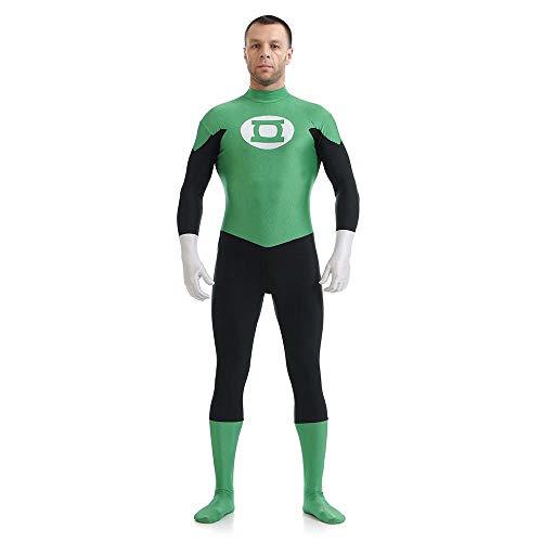 Grüne Laterne Anime Kostüm Cosplay Strumpfhosen Kleidung Weihnachten Halloween Kostüm Für Erwachsene/Kinder Tragen Adult-XXL (Grüne Laterne Kinder Kostüm)