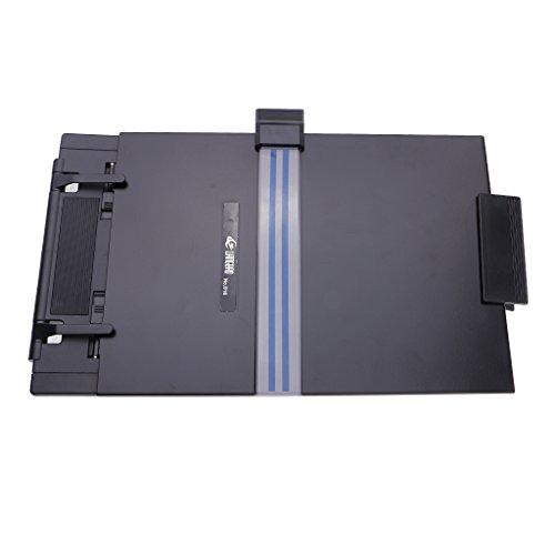 D DOLITY Plastikbuch Verstellbarer Dokumentenhalter Office Konzepthalter schwarz