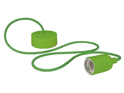 VELLEMAN - LAMPH01GR Vellight Design Deckenleuchte mit Textilkabel, Grün 232273