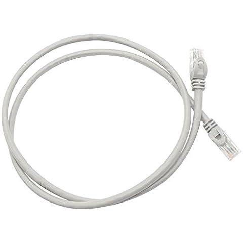 Apuntar CAT5E Cable de Ethernet para Internet, 100,58 cm tiramina con , 2 paquetes RJ45 Gigabit LAN Cable de conexión a Internet de banda ancha/Red/Modem/Router/conector interruptor, color Gray