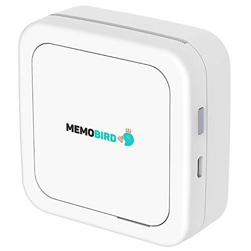 EisEyen Mobiler Fotodrucker für Smartphone Thermodrucker Drucken ohne Tinte Bluetooth Rosa Weiß