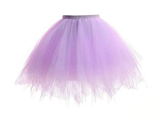 TrendiMax Damen Tüllrock 50er Rockabilly Petticoat Tutu Unterrock Ballett Tanzkleid Cosplay Kostüm