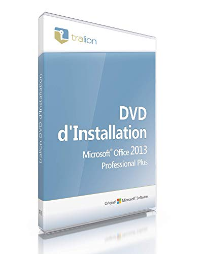 Microsoft® Office 2013 Professional Plus, Tralion-DVD. 32/64 bit, incl. documents de licence,...