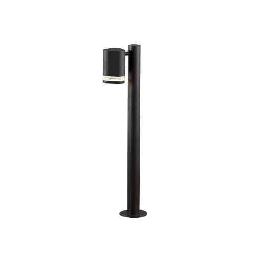 Gnosjö Konstsmide Modena Wegeleuchte Außenleuchte, Aluminium, GU10, schwarz, 11.5 x 19 x 70 cm