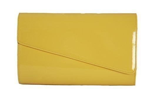 jaune-haute-brillance-verni-sac-a-main-pochette-grand-occasion-bag